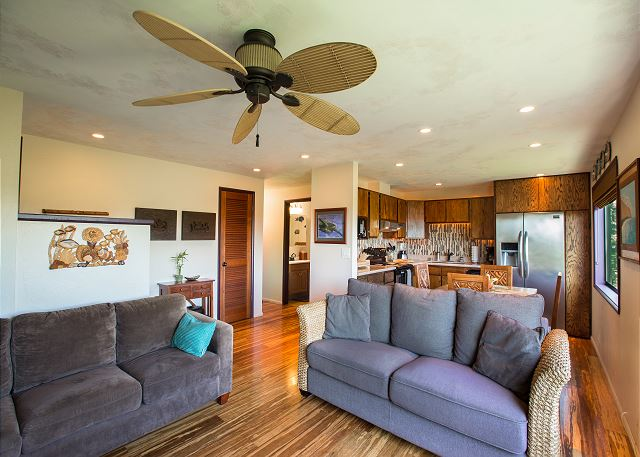 Cozy and inviting living area, Portable AC in LR & BRs