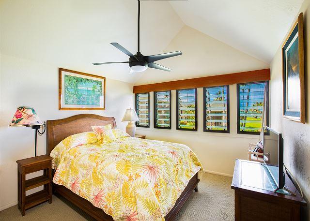 Upstairs Ocean View Bedroom with Queen Bed