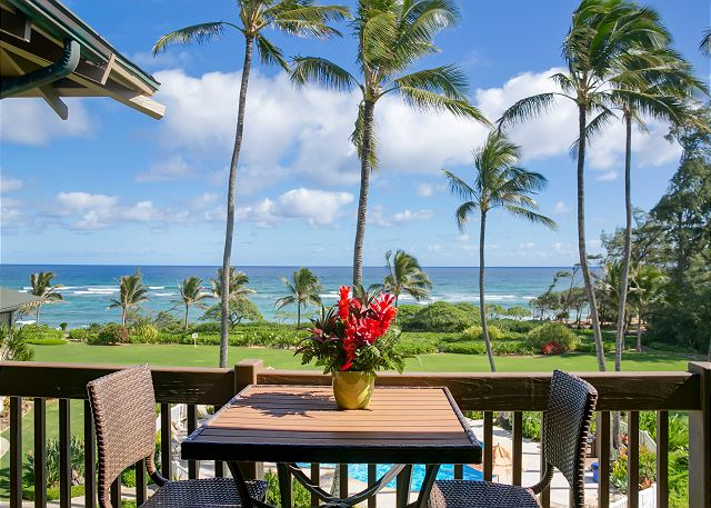 Private Lanai with Pool and Ocean-View