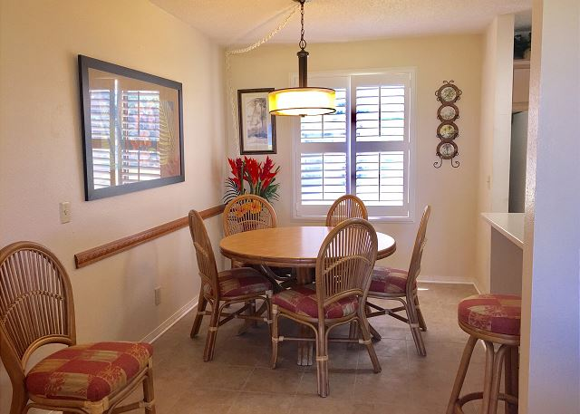Newly tiled dining area