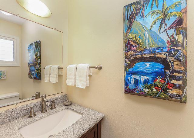 Half Bathroom in Master Bedroom