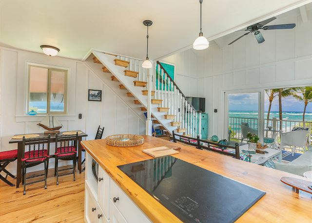 Full Kitchen, Oceanfront Views