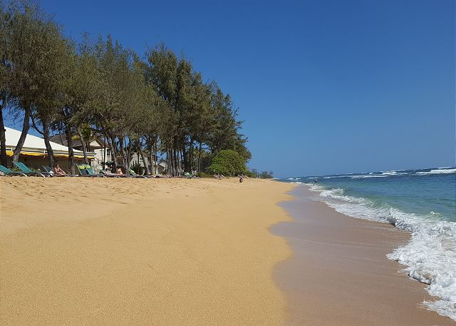 Beach in front of Lava Lava