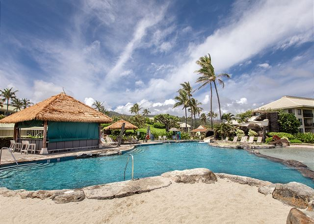 One of two pools next door at the Kaua'i Beach Resort.