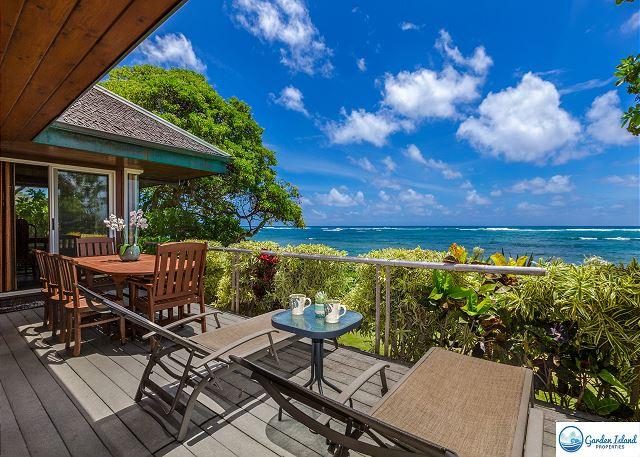 Niulani Beachfront Home Oceanfront Lanai