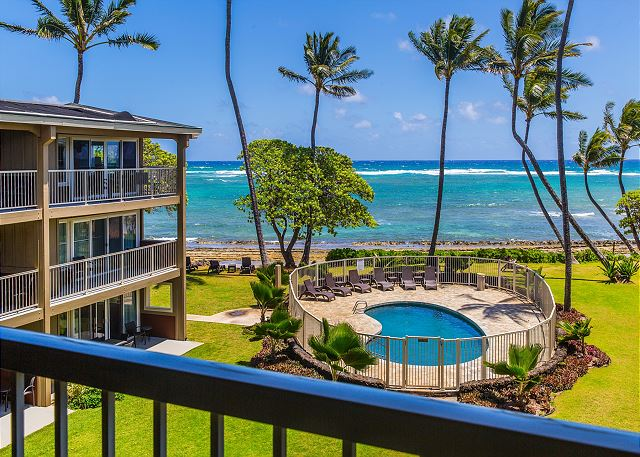 Oceanfront View from 3rd (top) floor Lanai