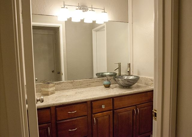 Newly remodeled bathroom vanity