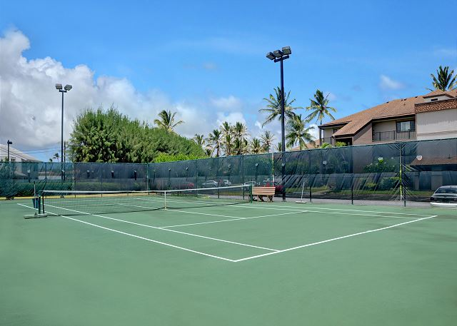 Tennis court on property, rackets available at Front Desk.