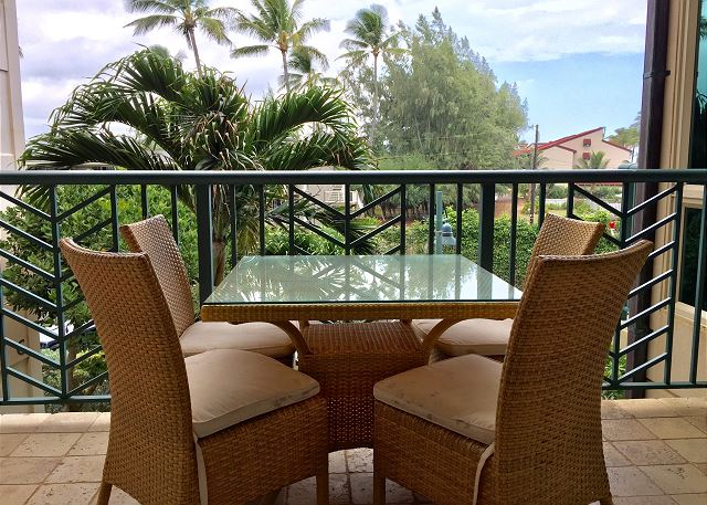 Enjoy the tropical breezes in one of 3 lanais.