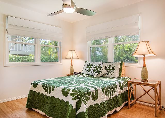 Air conditioned 2nd bedroom with a Queen bed.