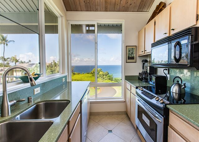 Full Kitchen with Ocean Views