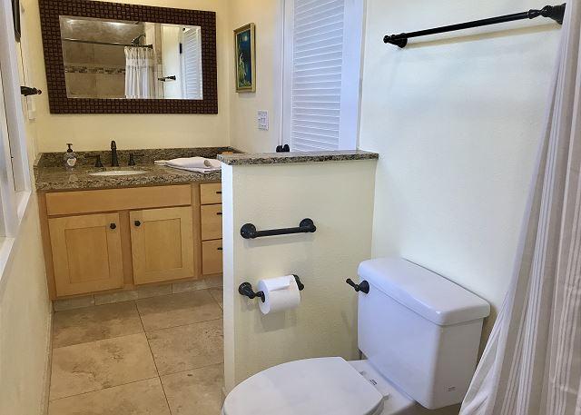 Upper level Master bathroom with walk in shower.