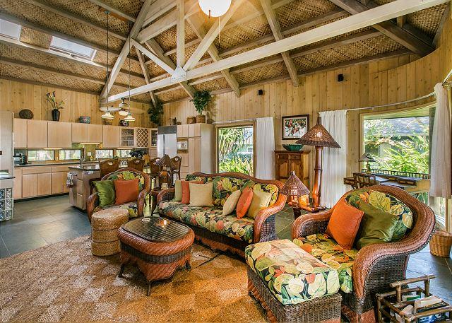 Ocean View Living Room & Kitchen