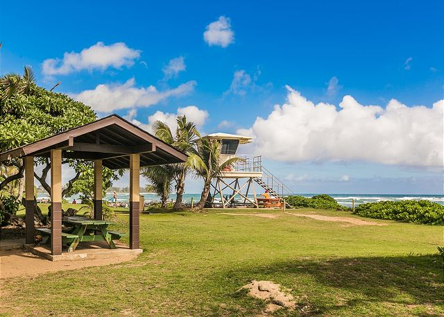 Great life-guarded beach just a few minutes drive from Kapaa Shore Resort.  Ideal for swimming and picnicking.