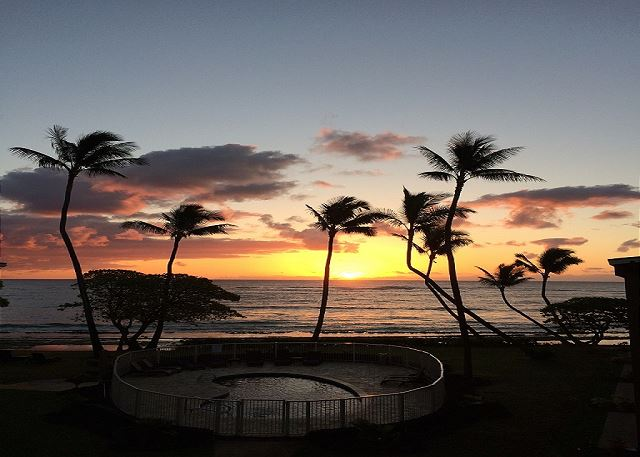 Sunrise from your Oceanfront Lanai