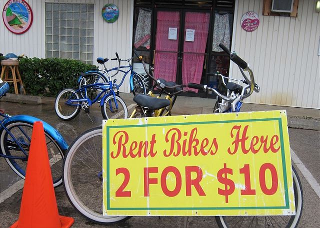 Rent a bike and explore the beautiful coast line!
