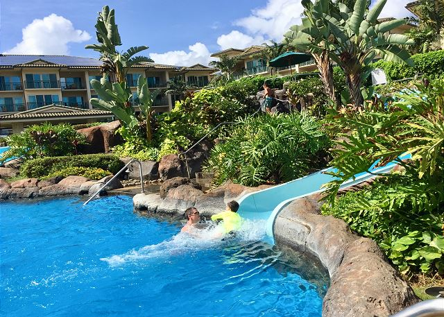 Enjoy the slide at Waipouli Beach Resort.