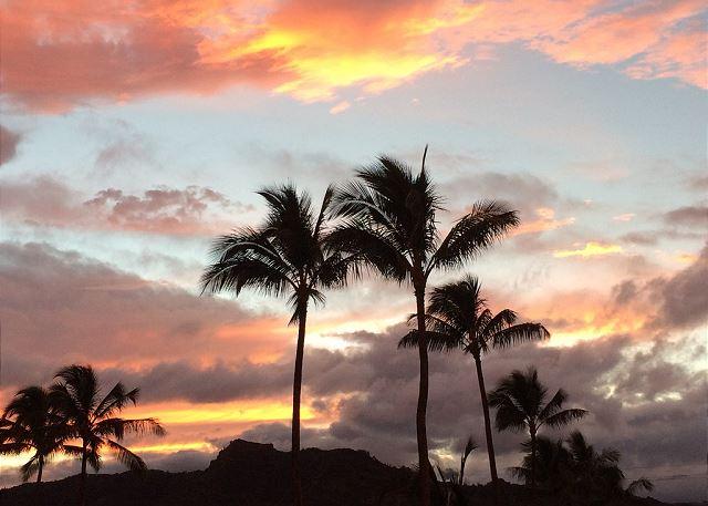 Sleeping Giant Sunset from front door