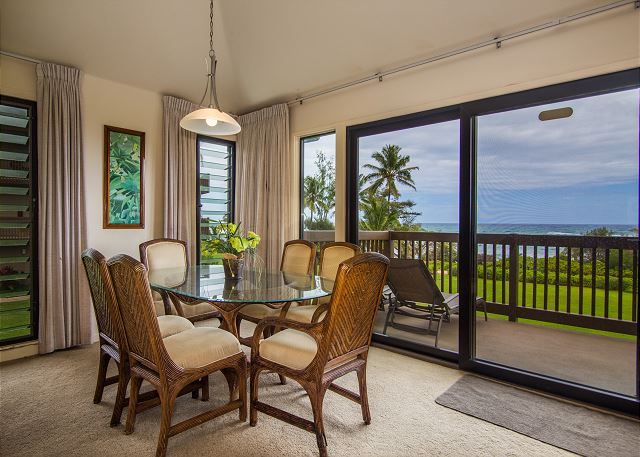 Dining Area with an Oceanfront View
