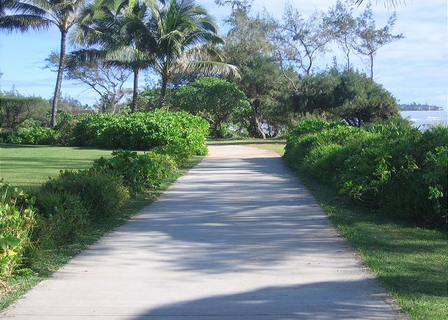 Walking/bike path to Lydgate Beach Park next door