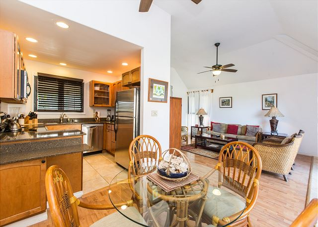 Ocean View Kitchen, Dining, Living areas