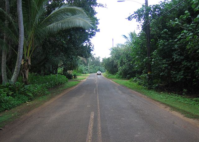Kauai Gardens is at the end of a dead end road.