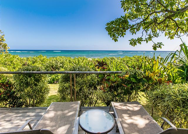 Relax on your Oceanfront Lanai
