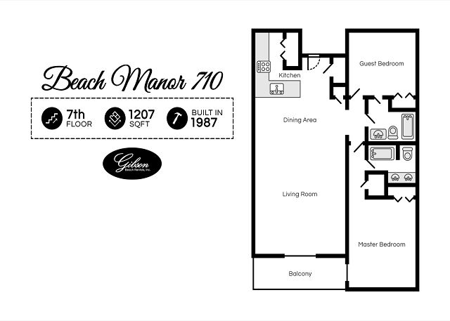 Beach Manor 710 Floor Plan