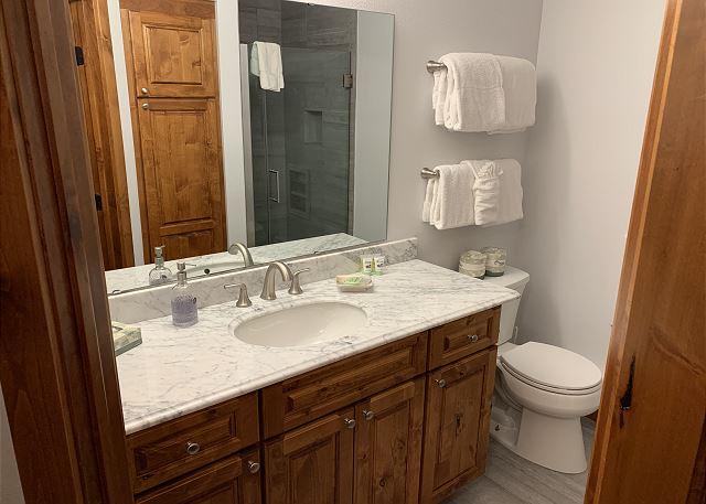 First Level Hallway Full Bathroom