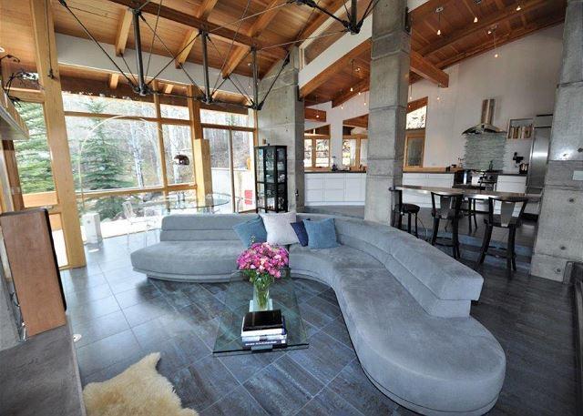 Living area is exquisite