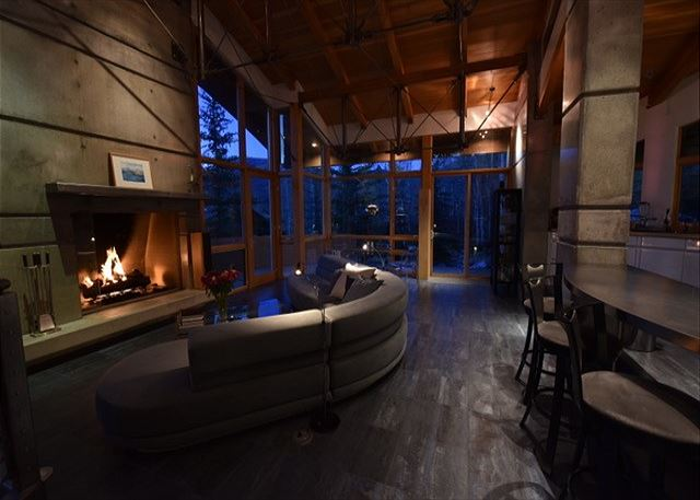 Glow of the fireplace