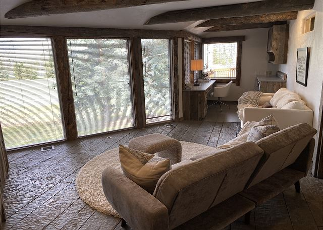 Relaxing couch in the Master with awesome Views.
