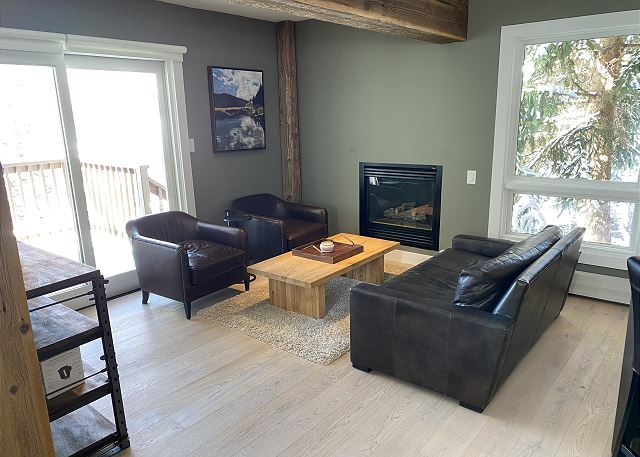 Cozy Gathering Spot with a Gas Fireplace
