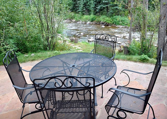 Patio on the river