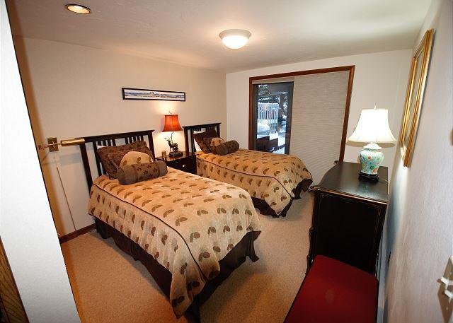 Bedroom off the den