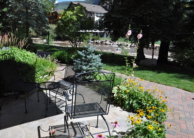 Patio next to the Gore Creek