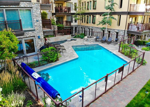 Heated pool is very close to your condo