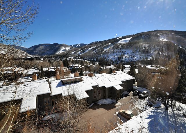 View of the ski slopes