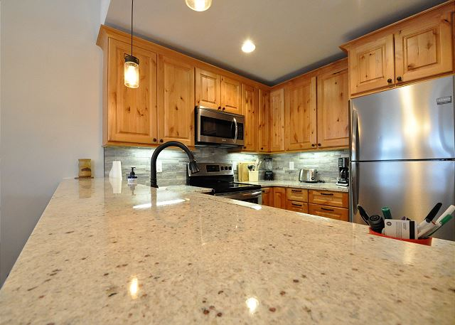 Beautiful granite counter tops