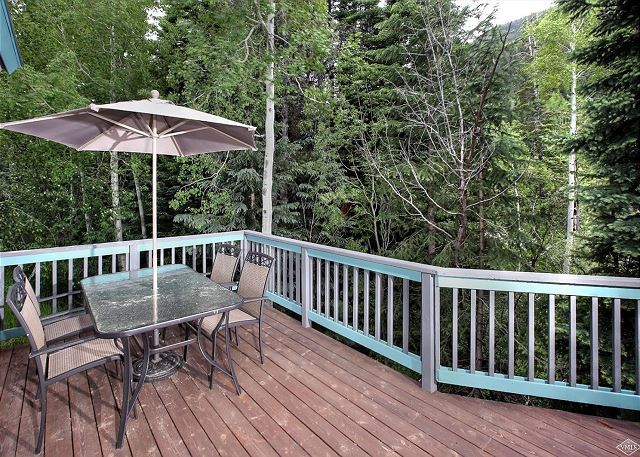 Back deck seating and dining