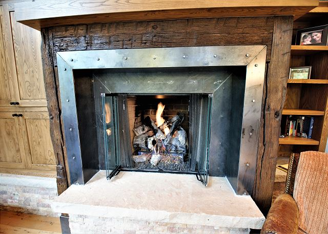 Focal point gas fireplace