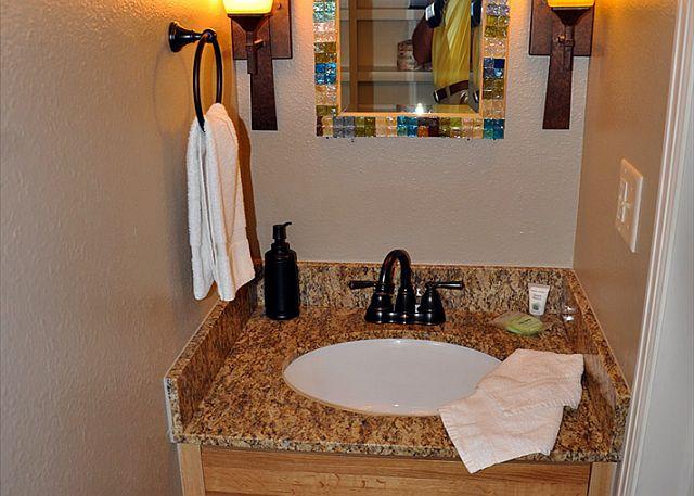 Sink in powder room