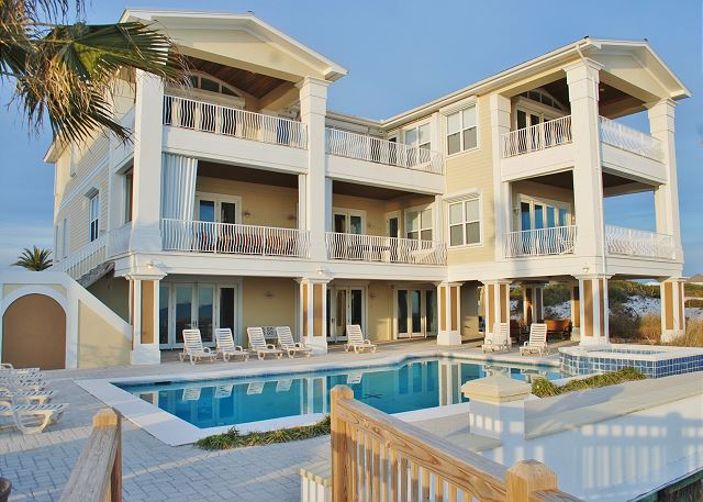 Kiva Grand, an 8700 sq ft home on a 2 acre beachfront lot at Kiva Dunes