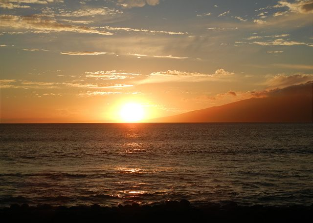 Stunning sunset across Molokai