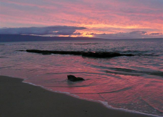 A winter's sunset across the island of Lanai