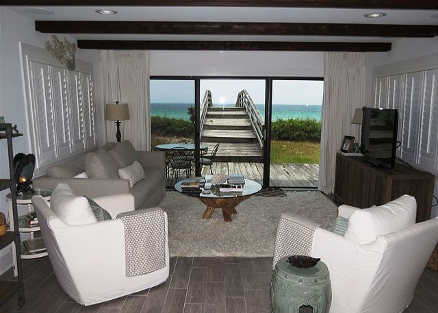 Living Area with Gulf View