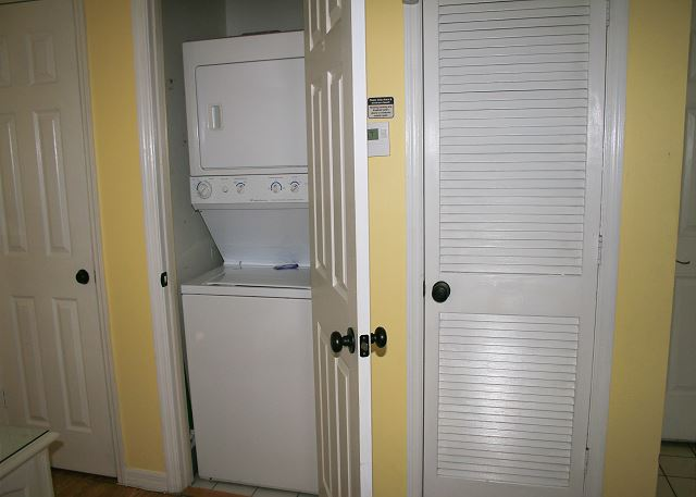 Washer & Dryer Closet off Living Area