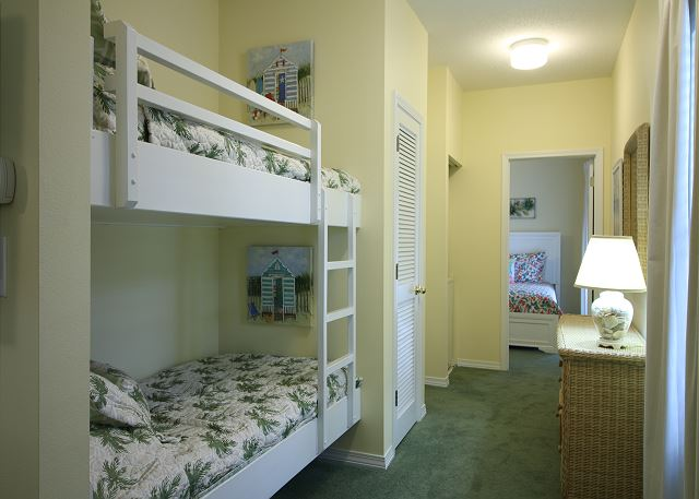 Twin Bunk Beds in Hall