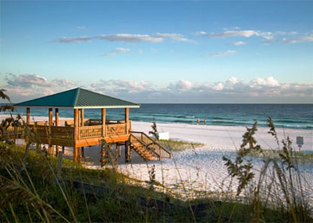 Beachside Gazebo for Gulf Winds East!
