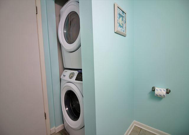 Laundry in Half Bath